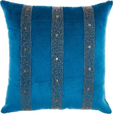Tadashi Contemporary Velvet Throw Pillow Color: Royal
