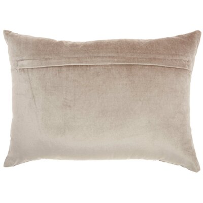 Tadashi Rectangular Velvet Lumbar Pillow Color: Beige