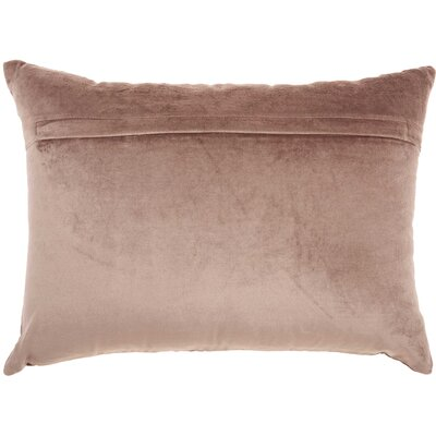 Tadashi Rectangular Velvet Lumbar Pillow Color: Nude