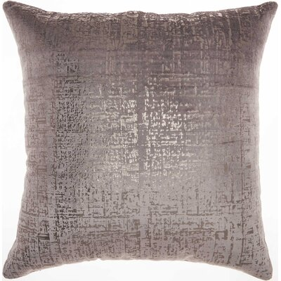 Velvet Throw Pillow Color: Dark Grey