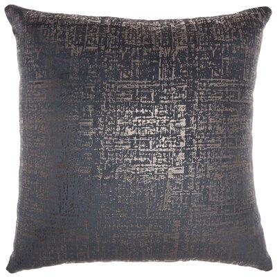 Tadashi Contemporary Square Velvet Throw Pillow Color: Midnight
