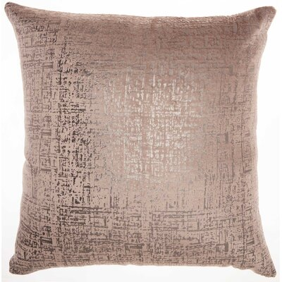 Tadashi Contemporary Square Velvet Throw Pillow Color: Nude