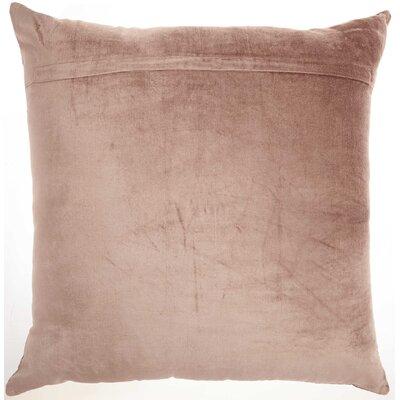 Tadashi Velvet Throw Pillow Color: Nude