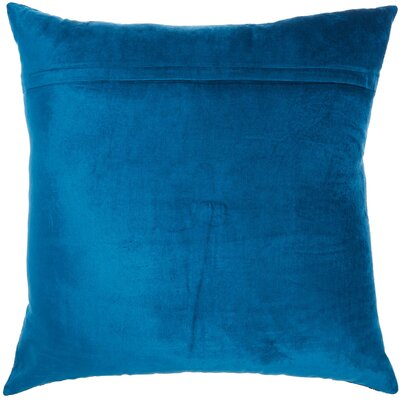 Tadashi Velvet Throw Pillow Color: Royal