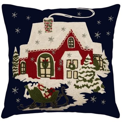 Home for the Holiday 100% Cotton Throw Pillow