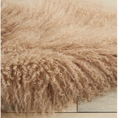 Christine Sheepskin Beige Area Rug
