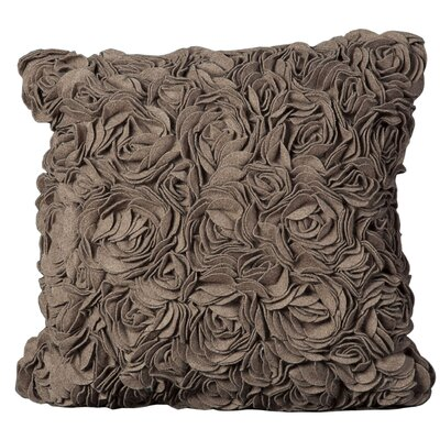 Felt Throw Pillow Color: Light Brown