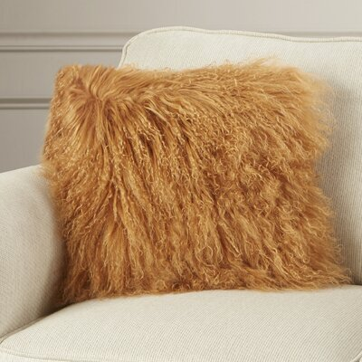 Billings Throw Pillow Color: Amber