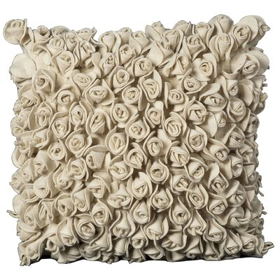 Felt Throw Pillow Color: Ivory