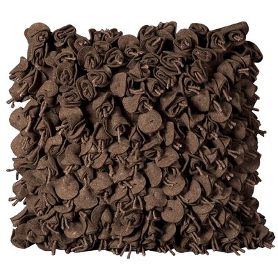 Felt Throw Pillow Color: Chocolate