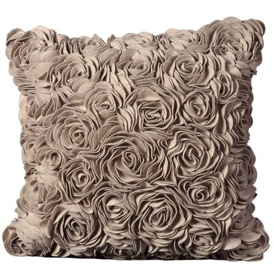 Felt Throw Pillow Color: Beige