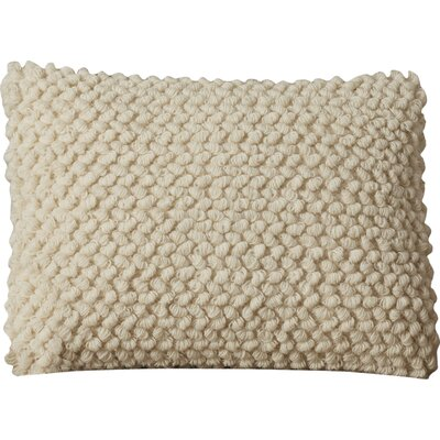 Mirales Wool Lumbar Pillow Color: Ivory