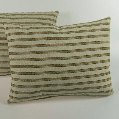 Gardening Stripe Throw Pillow Color: Green