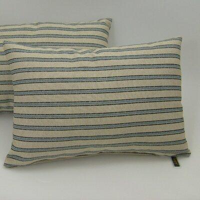 American Mills Gardening Stripe Pillow (Set of 2) - Color: Indigo