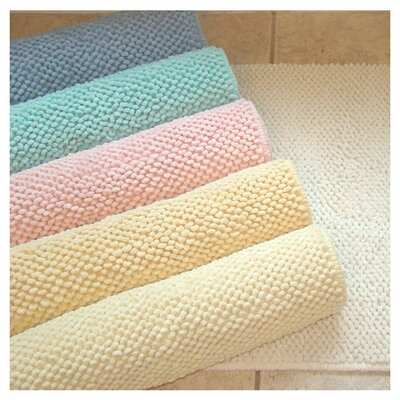 Pebble Cotton Bath Mat Color: Lemon