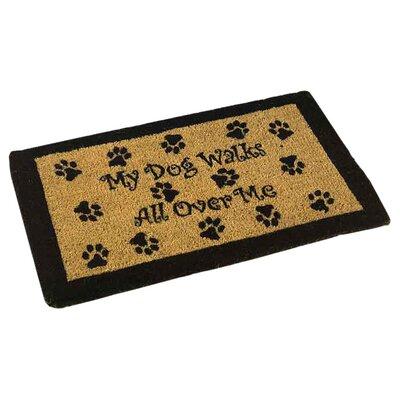My Dog Walks Outdoor Coir Doormat