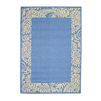 Paisley Blue Indoor/Outdoor Area Rug Rug Size: 67 x 96