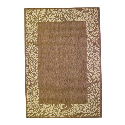 Paisley Chocolate Indoor/Outdoor Area Rug Rug Size: 2 x 3