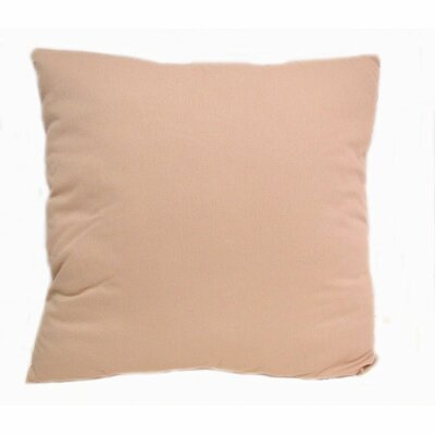 Solid Cotton Throw Pillow Color: Off White