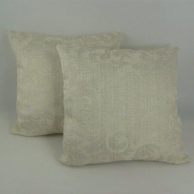 Scroll Damask Throw Pillow
