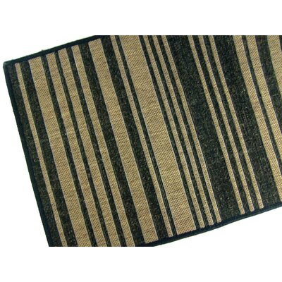 Barcode Black Indoor/Outdoor Area Rug Rug Size: 710 x 112