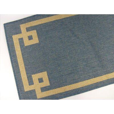 Borderline Blue Indoor/Outdoor Area Rug Rug Size: 28 x 44
