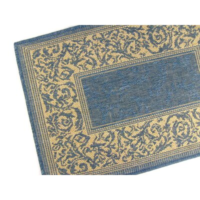 Entwined Blue Indoor/Outdoor Area Rug Rug Size: 710 x 112