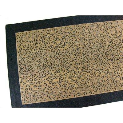 Leopard Black Indoor/Outdoor Area Rug Rug Size: 37 x 57