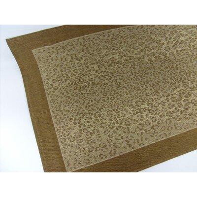 Leopard Chocolate Indoor/Outdoor Area Rug Rug Size: 37 x 57