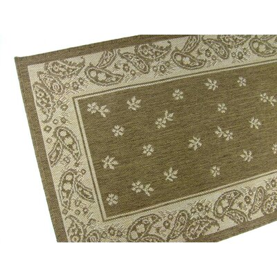 Paisley Floral Chocolate Indoor/Outdoor Area Rug Rug Size: Runner 2' x 7'6