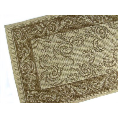 Scroll Brown/Tan Indoor/Outdoor Area Rug