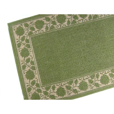 Summer Vine Emerald Indoor/Outdoor Area Rug Rug Size: 5'3 x 7'6