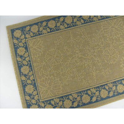 Summer Vine Honey/Blue Indoor/Outdoor Area Rug Rug Size: 3'7 x 5'7