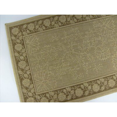 Summer Vine Honey/Chocolate Indoor/Outdoor Area Rug Rug Size: 3'7 x 5'7