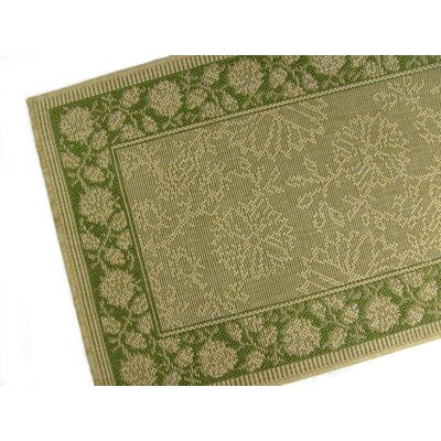 Summer Vine Honey/Emerald Indoor/Outdoor Area Rug Rug Size: 5'3 x 7'6