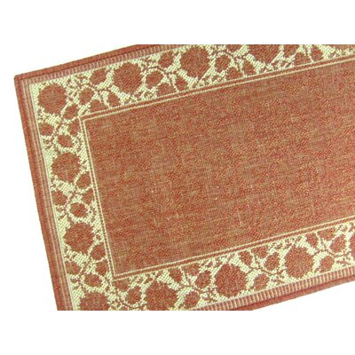 Summer Vine Terracotta Indoor/Outdoor Area Rug