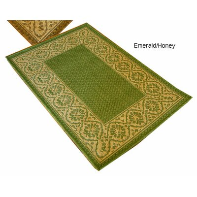 Wallpaper Scroll Green Indoor/Outdoor Area Rug Rug Size: 2 x 3