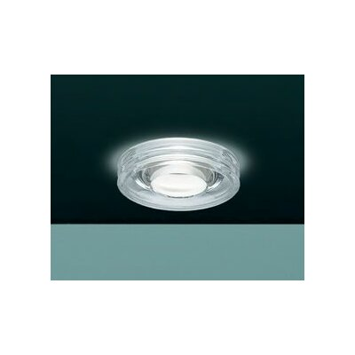 Disk Recessed Housing Bulb Type: 50W MR16 Incandescent, Finish: Satin White