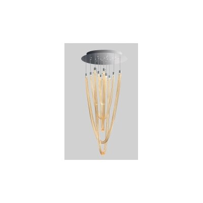 Acqualuce Suspension Shade Color: Amber, Finish: White