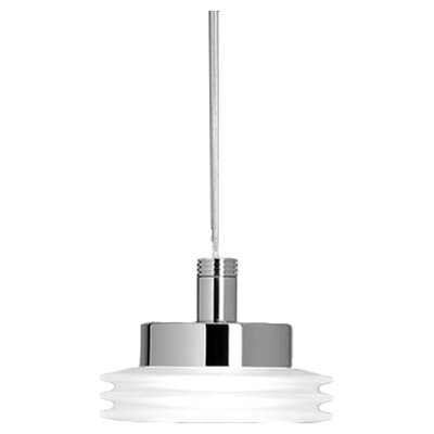 Disk Pendant Lights Mount/Finish/Glass Color: Single Mount/Brushed Nickel/Crystal & Satin White