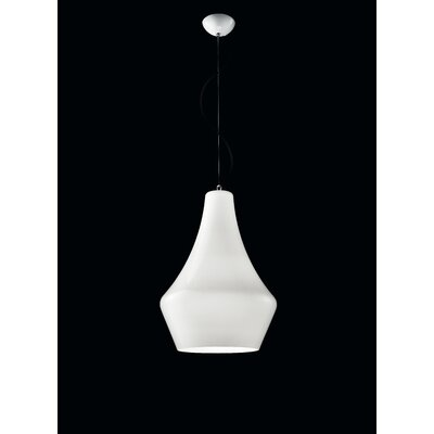 Alma 1-Light Mini Pendant Shade Color: White