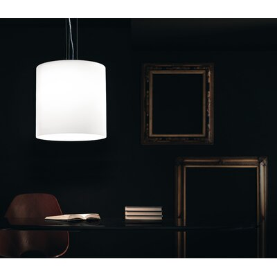 Celine Pendant Finish: Nickel, Shade Color: White Satin, Bulb Type: 18 Watt G24Q2 CFL