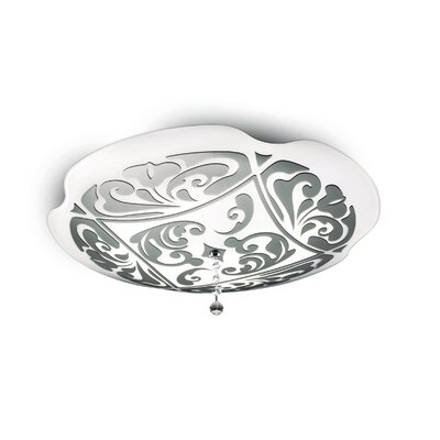 Charme P-Pl Wall - Ceiling Size: 6.5 H x 13.75 W, Finish: White / Platinum, Bulb Type: 1 x 22W 2GX13 T5