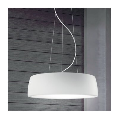 Axel 1-Light Drum Pendant Shade Color: Matte White, Bulb Type: 22 W 2GX13 T5 Fluorescent