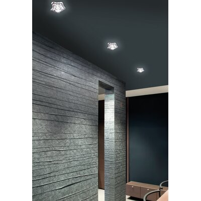 Baia 5.9 Recessed Lighting Kit Shade Color: Crystal, Bulb Type: 50 W GU Incandescent, Size: 5.4 H x 12 W x 4 D