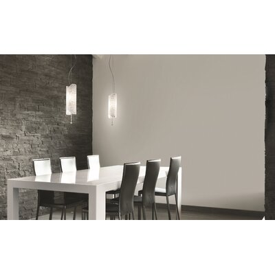 Charme S Suspension Color: White / Platinum, Bulb Type: 1 x 26 W GU24
