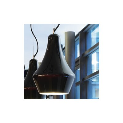 Alma 1-Light Mini Pendant Shade Color: Black