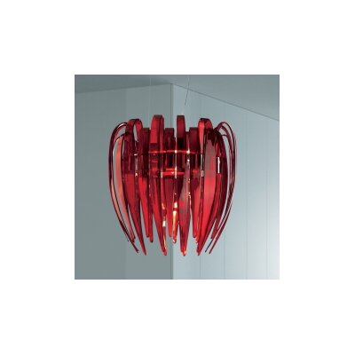 Dracena S60 Suspension Shade Color: Red, Bulb Type: 48 W G9 T4 Incandescent