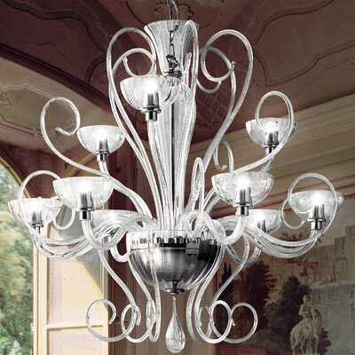 Bolero 9-Light Candle-Style Chandelier Color: Clear