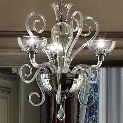 Bolero 6-Light Candle-Style Chandelier Size: 86.51 H x 27.13 W, Color: Clear